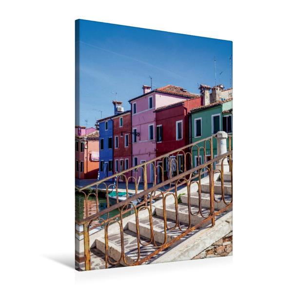 Premium Textil-Leinwand 60 cm x 90 cm hoch, BURANO Farbenfrohe Fischerinsel | Wandbild, Bild auf Keilrahmen, Fertigbild auf echter Leinwand, Leinwanddruck - Coverbild