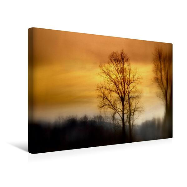 Premium Textil-Leinwand 45 cm x 30 cm quer, Sanfte Morgenstimmung | Wandbild, Bild auf Keilrahmen, Fertigbild auf echter Leinwand, Leinwanddruck - Coverbild