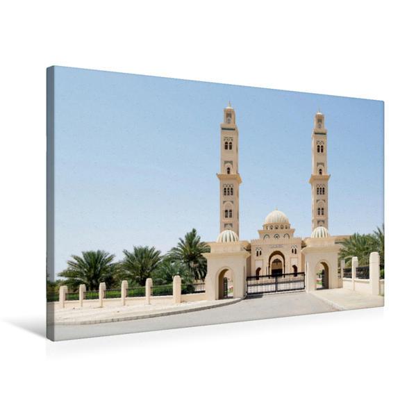 Premium Textil-Leinwand 75 cm x 50 cm quer, Moschee im Oman | Wandbild, Bild auf Keilrahmen, Fertigbild auf echter Leinwand, Leinwanddruck - Coverbild