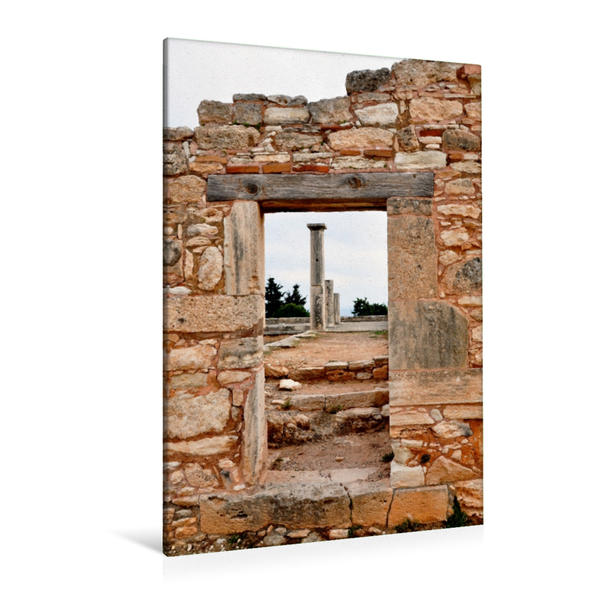 Premium Textil-Leinwand 80 cm x 120 cm  hoch, Die Apollon-Hylates Tempelanlage | Wandbild, Bild auf Keilrahmen, Fertigbild auf echter Leinwand, Leinwanddruck - Coverbild