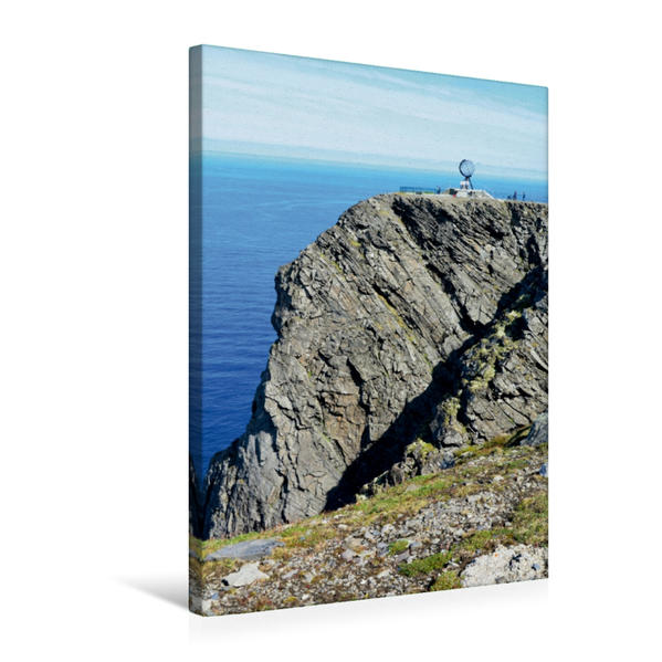 Premium Textil-Leinwand 50 cm x 75 cm hoch, Das Nordkapp in Norwegen | Wandbild, Bild auf Keilrahmen, Fertigbild auf echter Leinwand, Leinwanddruck - Coverbild