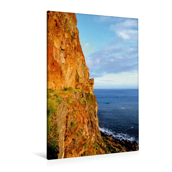 Premium Textil-Leinwand 80 cm x 120 cm  hoch, Der Cabo Girâo auf Madeira | Wandbild, Bild auf Keilrahmen, Fertigbild auf echter Leinwand, Leinwanddruck - Coverbild