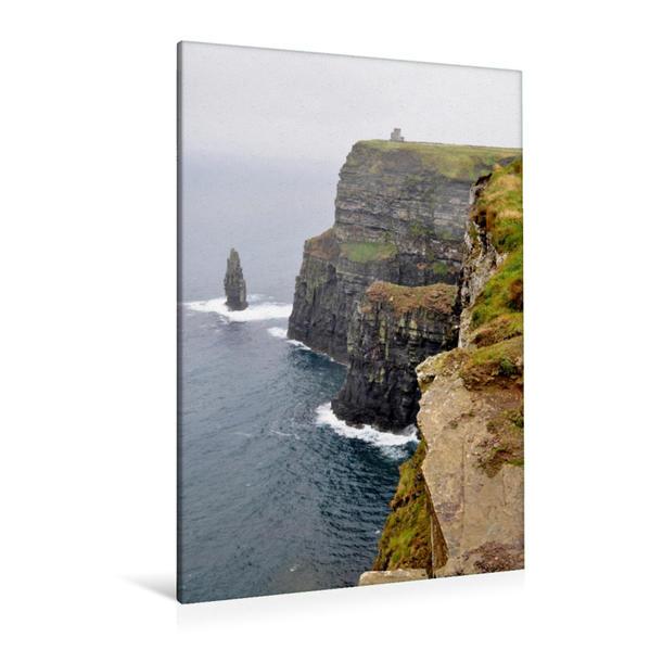 Premium Textil-Leinwand 80 cm x 120 cm  hoch, Die Cliffs of Moher | Wandbild, Bild auf Keilrahmen, Fertigbild auf echter Leinwand, Leinwanddruck - Coverbild