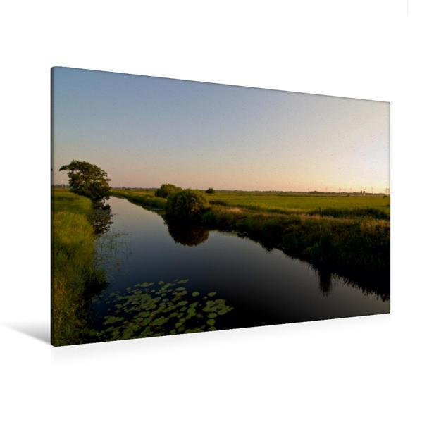 Premium Textil-Leinwand 120 cm x 80 cm quer, Mörgens in Hammerk van Weenermoor   Wandbild, Bild auf Keilrahmen, Fertigbild auf echter Leinwand, Leinwanddruck - Coverbild