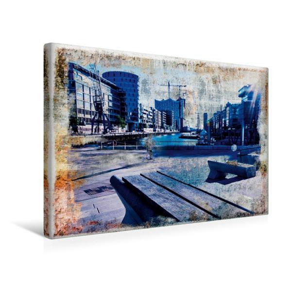 Premium Textil-Leinwand 45 cm x 30 cm quer, Ein Motiv aus dem Kalender Hamburg on the wall | Wandbild, Bild auf Keilrahmen, Fertigbild auf echter Leinwand, Leinwanddruck - Coverbild