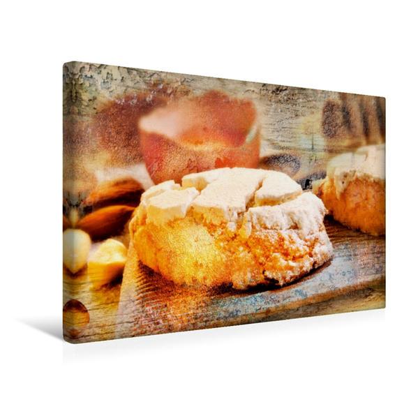 Premium Textil-Leinwand 45 cm x 30 cm quer, Ein Motiv aus dem Kalender Italian Food - Vintage Design | Wandbild, Bild auf Keilrahmen, Fertigbild auf echter Leinwand, Leinwanddruck - Coverbild