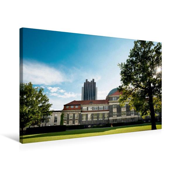 Premium Textil-Leinwand 75 cm x 50 cm quer, Universität Hamburg | Wandbild, Bild auf Keilrahmen, Fertigbild auf echter Leinwand, Leinwanddruck - Coverbild