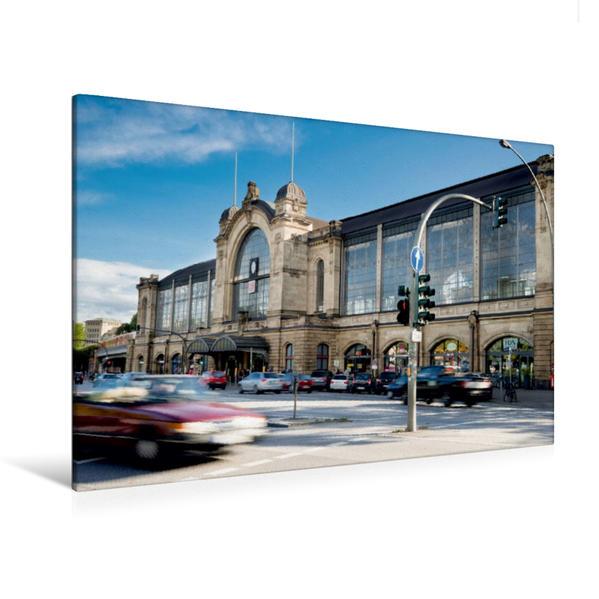 Premium Textil-Leinwand 120 cm x 80 cm quer, Hamburg Dammtor   Wandbild, Bild auf Keilrahmen, Fertigbild auf echter Leinwand, Leinwanddruck - Coverbild
