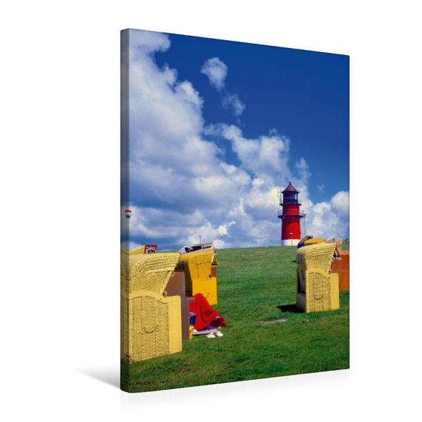 Premium Textil-Leinwand 50 cm x 75 cm hoch, Nordseestrand Büsum   Wandbild, Bild auf Keilrahmen, Fertigbild auf echter Leinwand, Leinwanddruck - Coverbild