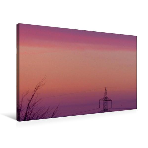 Premium Textil-Leinwand 75 cm x 50 cm quer, Himmel wie gemalt | Wandbild, Bild auf Keilrahmen, Fertigbild auf echter Leinwand, Leinwanddruck - Coverbild