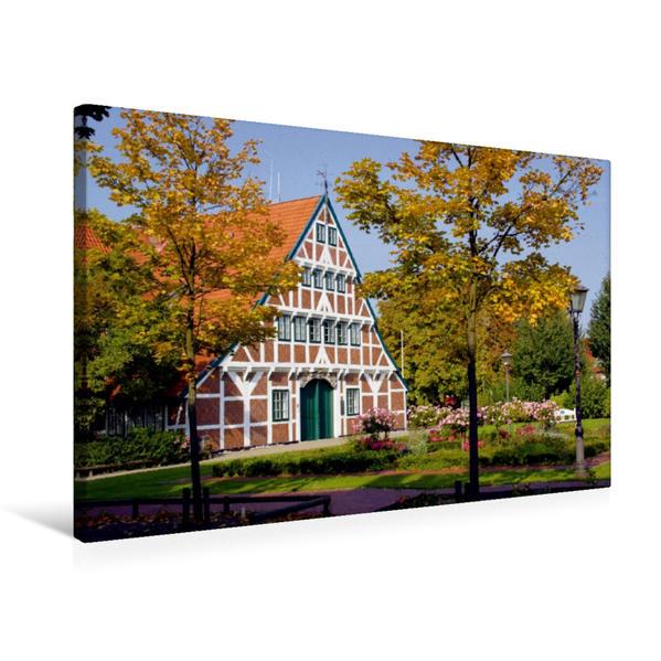 Premium Textil-Leinwand 75 cm x 50 cm quer, Herbst in Jork | Wandbild, Bild auf Keilrahmen, Fertigbild auf echter Leinwand, Leinwanddruck - Coverbild