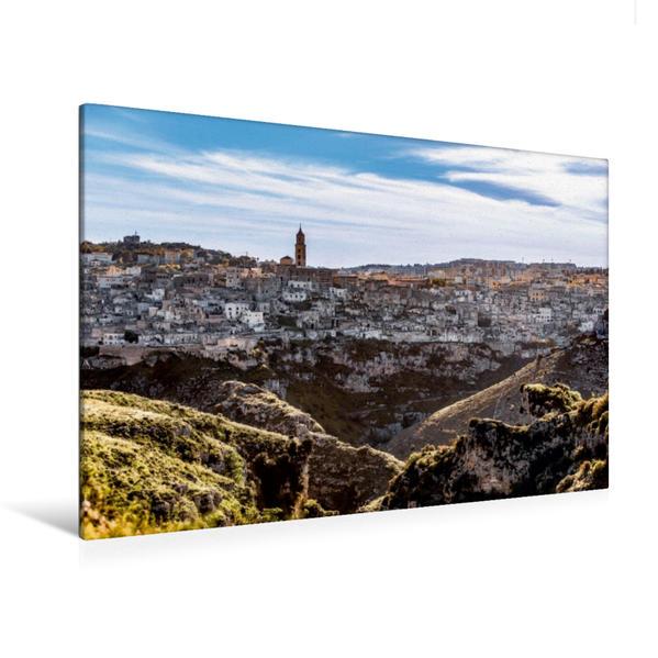 Premium Textil-Leinwand 120 cm x 80 cm quer, Matera Panorama   Wandbild, Bild auf Keilrahmen, Fertigbild auf echter Leinwand, Leinwanddruck - Coverbild