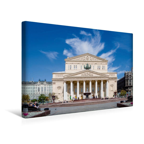 Premium Textil-Leinwand 45 cm x 30 cm quer, Bolshoi-Theater (Moskau) | Wandbild, Bild auf Keilrahmen, Fertigbild auf echter Leinwand, Leinwanddruck - Coverbild