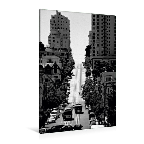 Premium Textil-Leinwand 80 cm x 120 cm  hoch, Cable Cars   Wandbild, Bild auf Keilrahmen, Fertigbild auf echter Leinwand, Leinwanddruck - Coverbild