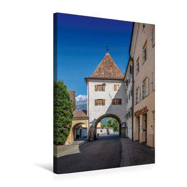 Premium Textil-Leinwand 50 cm x 75 cm hoch, MERAN Vinschgauer Tor | Wandbild, Bild auf Keilrahmen, Fertigbild auf echter Leinwand, Leinwanddruck - Coverbild