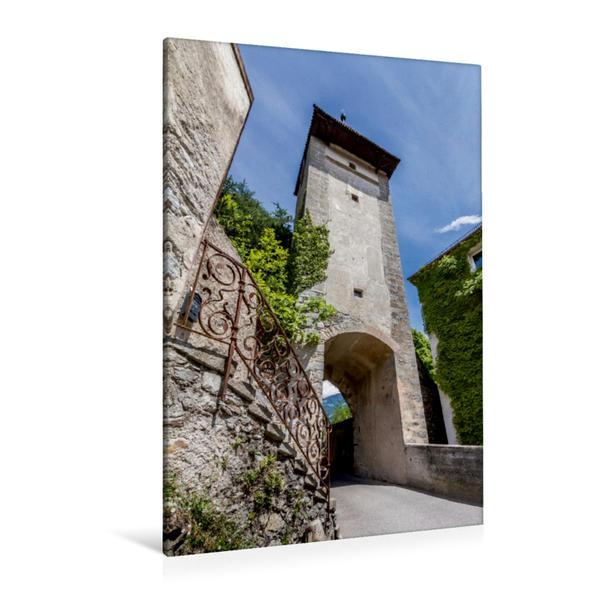Premium Textil-Leinwand 80 cm x 120 cm  hoch, MERAN Passeirer Tor   Wandbild, Bild auf Keilrahmen, Fertigbild auf echter Leinwand, Leinwanddruck - Coverbild