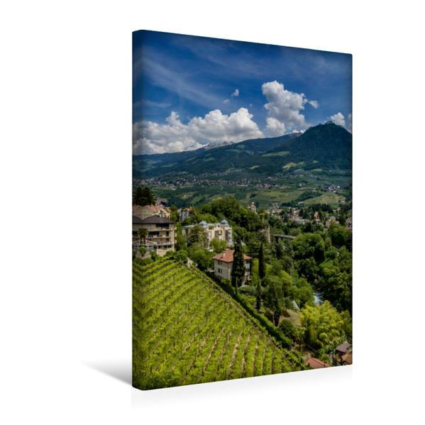Premium Textil-Leinwand 30 cm x 45 cm hoch, MERAN Aussichten am Tappeinerweg | Wandbild, Bild auf Keilrahmen, Fertigbild auf echter Leinwand, Leinwanddruck - Coverbild
