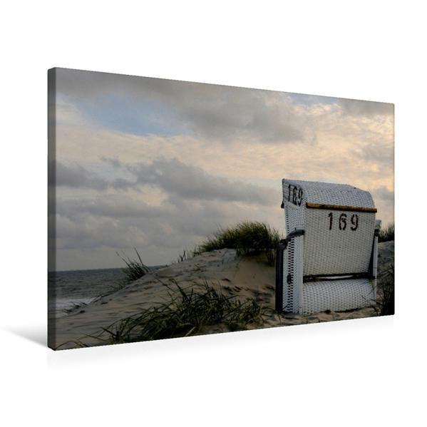 Premium Textil-Leinwand 75 cm x 50 cm quer, Ein Motiv aus dem Kalender Strandimpressionen von der Nordsee   Wandbild, Bild auf Keilrahmen, Fertigbild auf echter Leinwand, Leinwanddruck - Coverbild