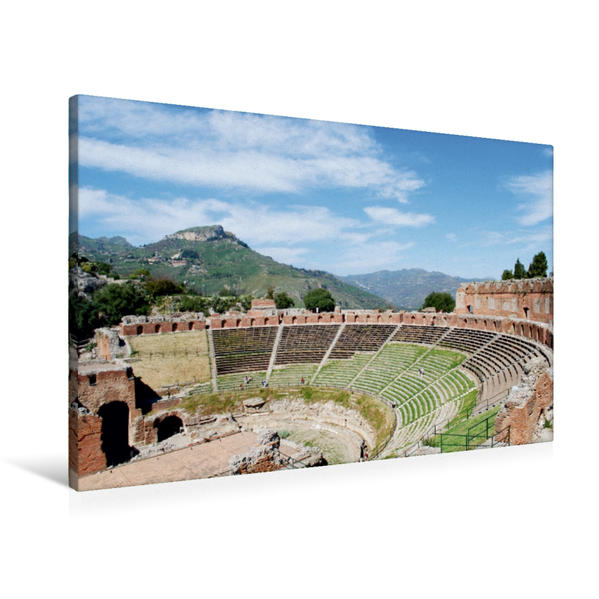 Premium Textil-Leinwand 90 cm x 60 cm quer, Ein Motiv aus dem Kalender Sizilien | Wandbild, Bild auf Keilrahmen, Fertigbild auf echter Leinwand, Leinwanddruck - Coverbild