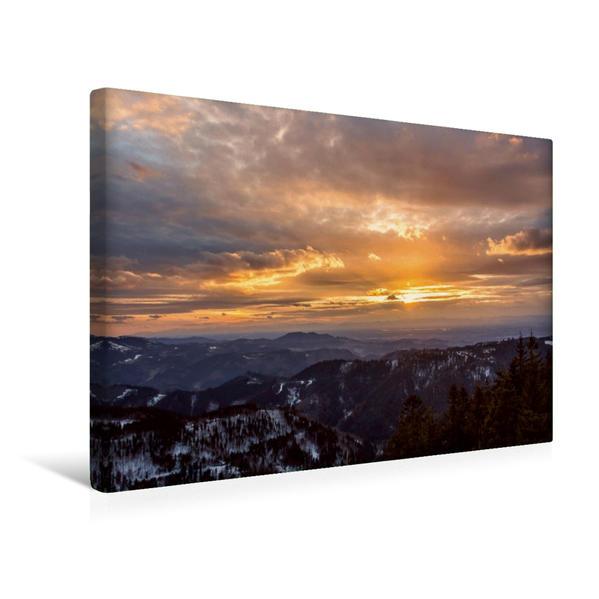Premium Textil-Leinwand 45 cm x 30 cm quer, Blick Richtung Rheinebene | Wandbild, Bild auf Keilrahmen, Fertigbild auf echter Leinwand, Leinwanddruck - Coverbild