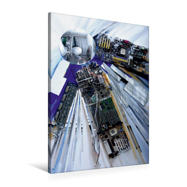 Premium Textil-Leinwand 60 cm x 90 cm hoch, Blau | Wandbild, Bild auf Keilrahmen, Fertigbild auf echter Leinwand, Leinwanddruck - Coverbild