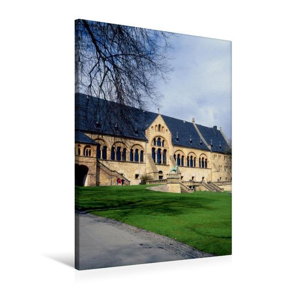 Premium Textil-Leinwand 60 cm x 90 cm hoch, Romanische Kaiserpfalz in Goslar | Wandbild, Bild auf Keilrahmen, Fertigbild auf echter Leinwand, Leinwanddruck - Coverbild