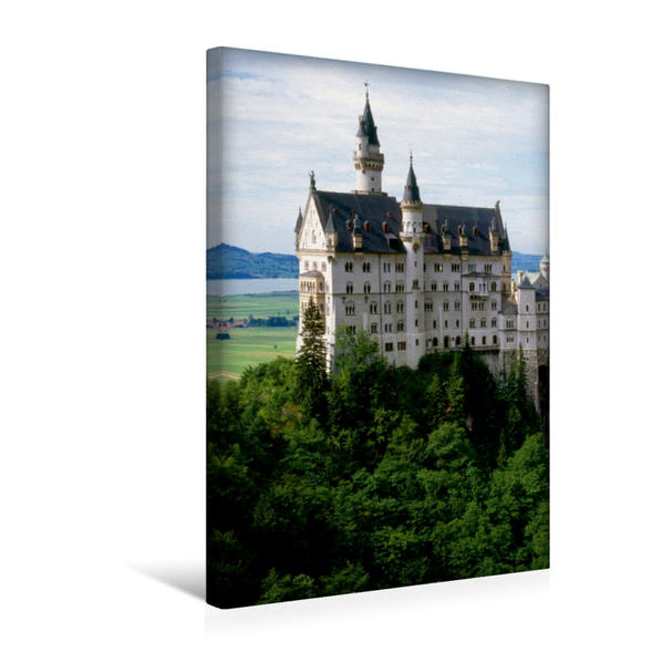 Premium Textil-Leinwand 30 cm x 45 cm hoch, Schloss Neuschwanstein | Wandbild, Bild auf Keilrahmen, Fertigbild auf echter Leinwand, Leinwanddruck - Coverbild
