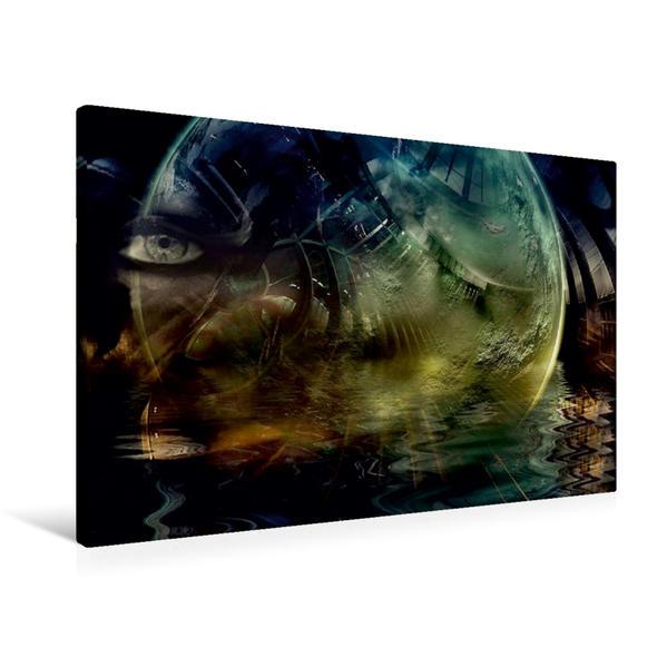 Premium Textil-Leinwand 90 cm x 60 cm quer, Mission Earth | Wandbild, Bild auf Keilrahmen, Fertigbild auf echter Leinwand, Leinwanddruck - Coverbild