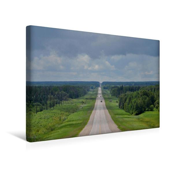 Premium Textil-Leinwand 45 cm x 30 cm quer, Highway zum Horizont   Wandbild, Bild auf Keilrahmen, Fertigbild auf echter Leinwand, Leinwanddruck - Coverbild