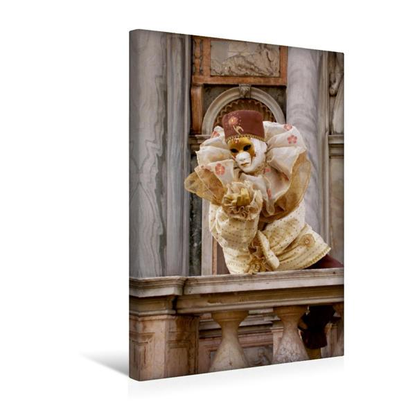 Premium Textil-Leinwand 30 cm x 45 cm hoch, Ein Motiv aus dem Kalender Masken der Sehnsucht - Karneval in Venedig | Wandbild, Bild auf Keilrahmen, Fertigbild auf echter Leinwand, Leinwanddruck - Coverbild