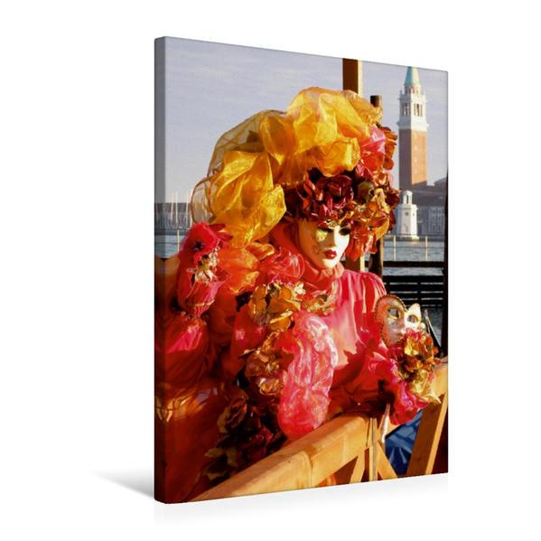 Premium Textil-Leinwand 50 cm x 75 cm hoch, Ein Motiv aus dem Kalender Masken der Sehnsucht - Karneval in Venedig | Wandbild, Bild auf Keilrahmen, Fertigbild auf echter Leinwand, Leinwanddruck - Coverbild