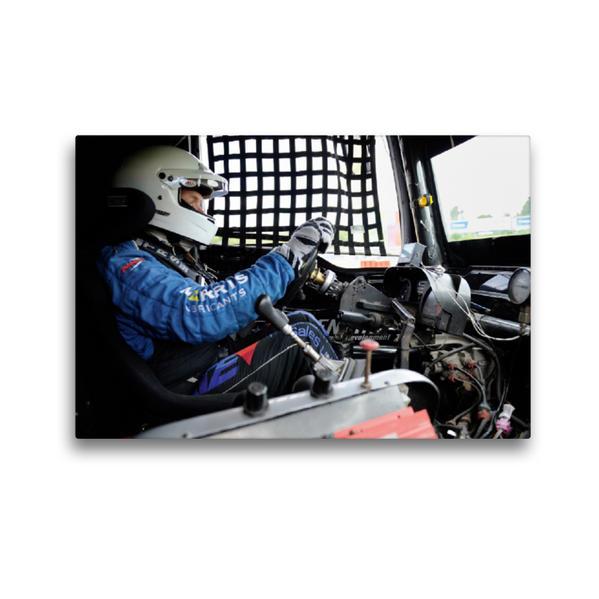 Premium Textil-Leinwand 45 cm x 30 cm quer, FIA European Truck Racing Championship | Wandbild, Bild auf Keilrahmen, Fertigbild auf echter Leinwand, Leinwanddruck - Coverbild