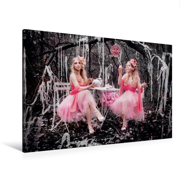 Premium Textil-Leinwand 120 cm x 80 cm quer, Zwillinge im Wunderland | Wandbild, Bild auf Keilrahmen, Fertigbild auf echter Leinwand, Leinwanddruck - Coverbild
