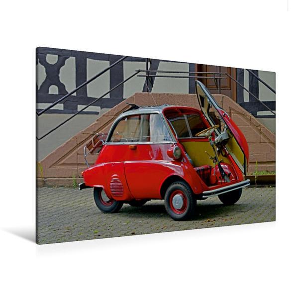 Premium Textil-Leinwand 120 cm x 80 cm quer, Ein Motiv aus dem Kalender Historische Kleinwagen aus Deutschland | Wandbild, Bild auf Keilrahmen, Fertigbild auf echter Leinwand, Leinwanddruck - Coverbild
