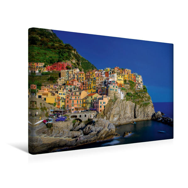 Premium Textil-Leinwand 45 cm x 30 cm quer, Manarolo   Wandbild, Bild auf Keilrahmen, Fertigbild auf echter Leinwand, Leinwanddruck - Coverbild