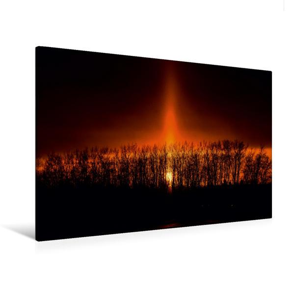 Premium Textil-Leinwand 120 cm x 80 cm quer, Lichtsäule | Wandbild, Bild auf Keilrahmen, Fertigbild auf echter Leinwand, Leinwanddruck - Coverbild
