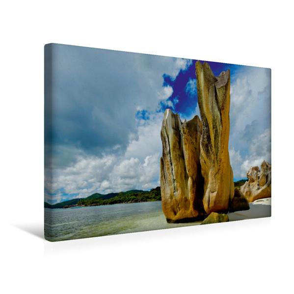Premium Textil-Leinwand 45 cm x 30 cm quer, Seychellen - Ein letztes Paradies auf Erden   Wandbild, Bild auf Keilrahmen, Fertigbild auf echter Leinwand, Leinwanddruck - Coverbild