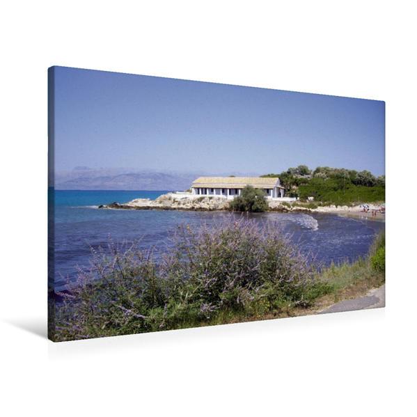 Premium Textil-Leinwand 90 cm x 60 cm quer, Agios Spiridon | Wandbild, Bild auf Keilrahmen, Fertigbild auf echter Leinwand, Leinwanddruck - Coverbild