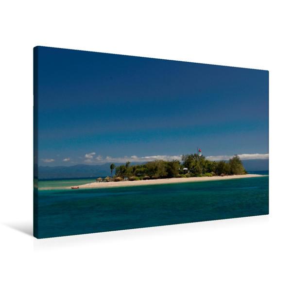 Premium Textil-Leinwand 90 cm x 60 cm quer, Naturparadies 5. Kontinent | Wandbild, Bild auf Keilrahmen, Fertigbild auf echter Leinwand, Leinwanddruck - Coverbild