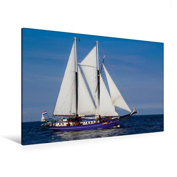Premium Textil-Leinwand 120 cm x 80 cm quer, Oban | Wandbild, Bild auf Keilrahmen, Fertigbild auf echter Leinwand, Leinwanddruck - Coverbild