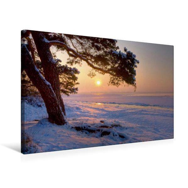 Premium Textil-Leinwand 75 cm x 50 cm quer, Ein Motiv aus dem Kalender Landschaften im Norden | Wandbild, Bild auf Keilrahmen, Fertigbild auf echter Leinwand, Leinwanddruck - Coverbild