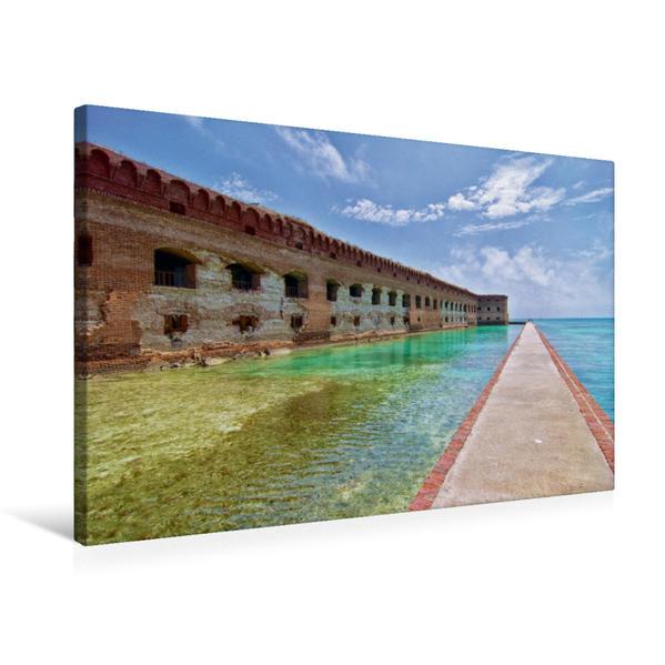 Premium Textil-Leinwand 75 cm x 50 cm quer, Dry Tortugas, Florida | Wandbild, Bild auf Keilrahmen, Fertigbild auf echter Leinwand, Leinwanddruck - Coverbild