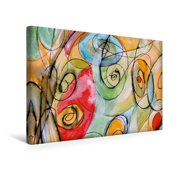 Premium Textil-Leinwand 45 cm x 30 cm quer, Alles Rund | Wandbild, Bild auf Keilrahmen, Fertigbild auf echter Leinwand, Leinwanddruck - Coverbild