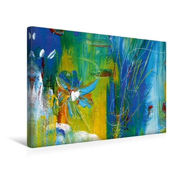 Premium Textil-Leinwand 45 cm x 30 cm quer, The Flying Flowers | Wandbild, Bild auf Keilrahmen, Fertigbild auf echter Leinwand, Leinwanddruck - Coverbild