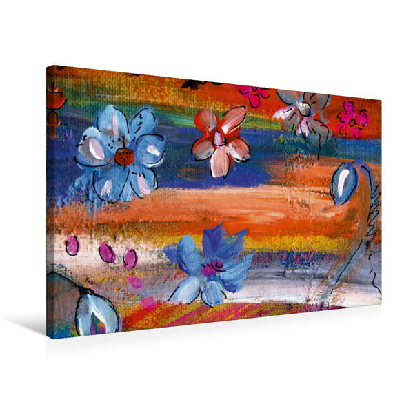 Premium Textil-Leinwand 75 cm x 50 cm quer, Blumentanz | Wandbild, Bild auf Keilrahmen, Fertigbild auf echter Leinwand, Leinwanddruck - Coverbild
