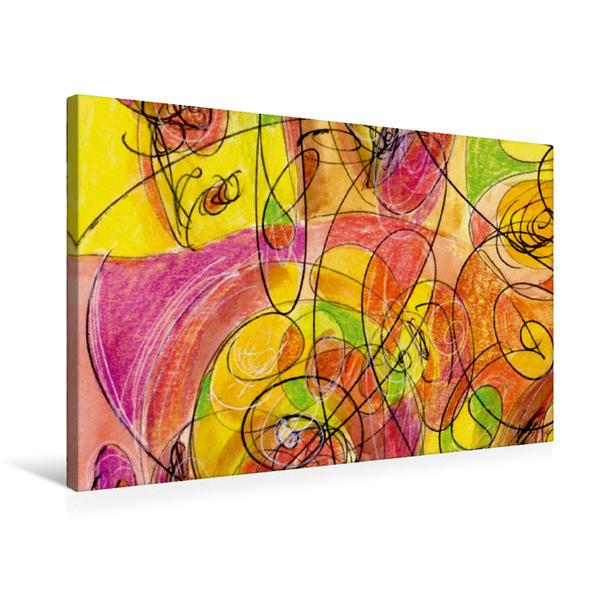 Premium Textil-Leinwand 75 cm x 50 cm quer, New Art Deco | Wandbild, Bild auf Keilrahmen, Fertigbild auf echter Leinwand, Leinwanddruck - Coverbild