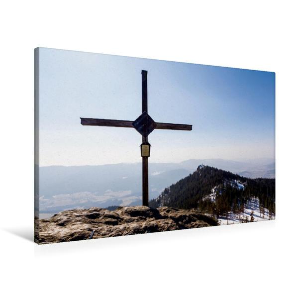 Premium Textil-Leinwand 90 cm x 60 cm quer, Schöner Bayerischer Wald | Wandbild, Bild auf Keilrahmen, Fertigbild auf echter Leinwand, Leinwanddruck - Coverbild