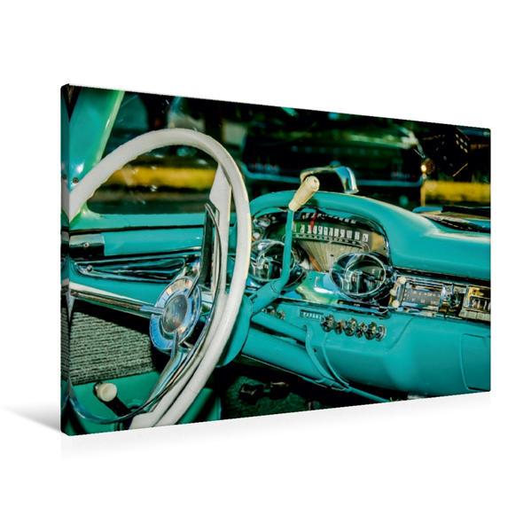 Premium Textil-Leinwand 90 cm x 60 cm quer, Ein Motiv aus dem Kalender Edsel Schönheiten mit Charme | Wandbild, Bild auf Keilrahmen, Fertigbild auf echter Leinwand, Leinwanddruck - Coverbild