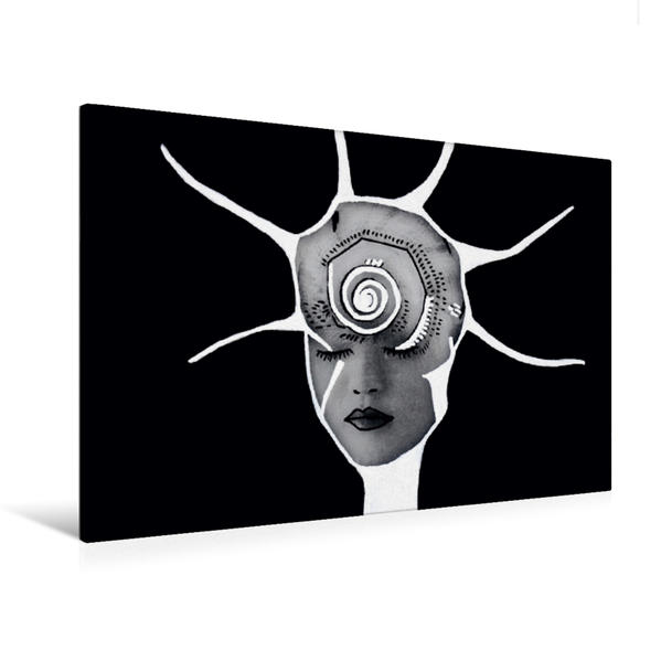 Premium Textil-Leinwand 120 cm x 80 cm quer, Jungle Face IV | Wandbild, Bild auf Keilrahmen, Fertigbild auf echter Leinwand, Leinwanddruck - Coverbild