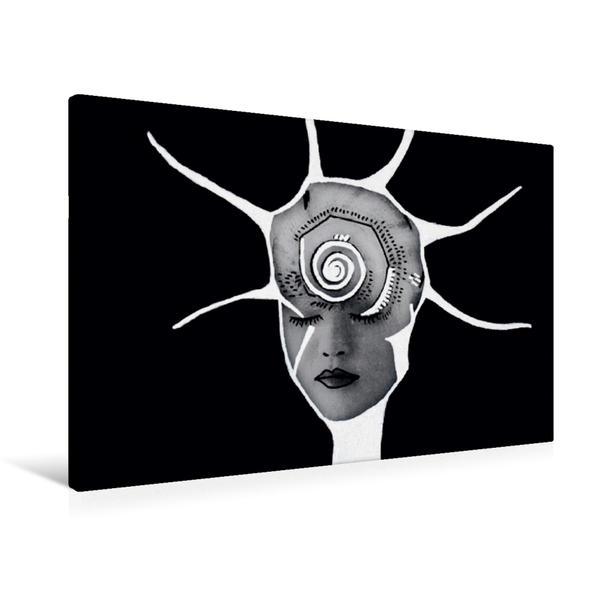 Premium Textil-Leinwand 90 cm x 60 cm quer, Jungle Face IV | Wandbild, Bild auf Keilrahmen, Fertigbild auf echter Leinwand, Leinwanddruck - Coverbild